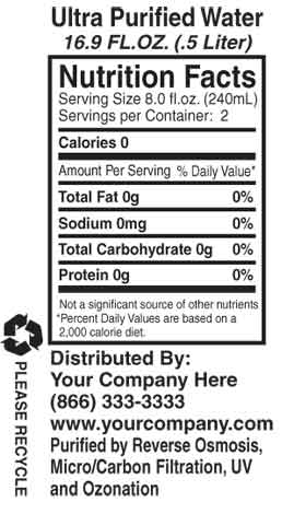 Ingredients label template images for Supplement facts template